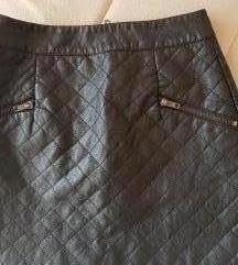 Kozna mini duboka suknja