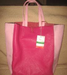 Kožna ciklama torba -Made in Italy