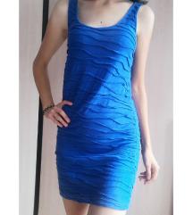 Bershka plava haljina