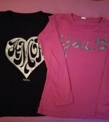 Dve kao nove majice S,M