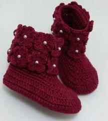 Heklane čizme za bebe