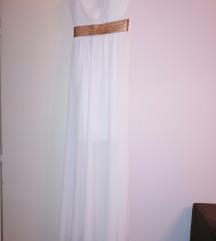 Dugacka bela haljina