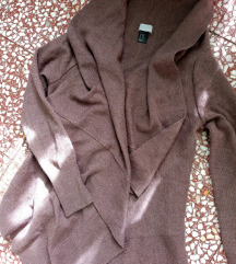 Nov H&M braon asimetričan i neobičan džemper