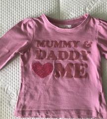 Majica dugih rukava za devojcicu, Mothercare,  86