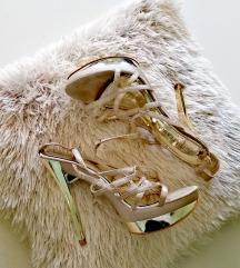 Italijanske zlatne sandale 37 broj