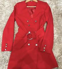 Crveni sako haljinica