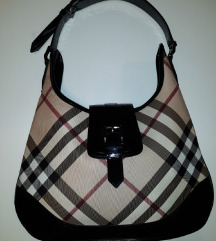 BURBERRY CHECK PRINT BUCKLE HOBO