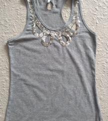 Siva majica bez rukava