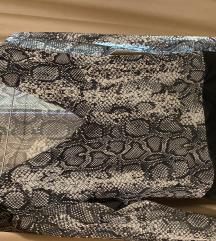 Amisu bodi bluza zmijski print
