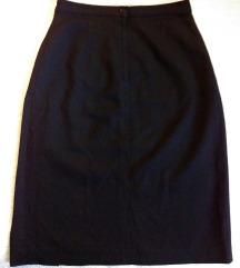Crna ravna suknja