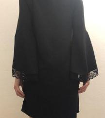 Zara haljina s čipkom na rukavima