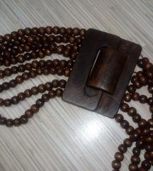 Kaiš od drvenih perli