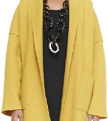 Escada Mustard open coat XL
