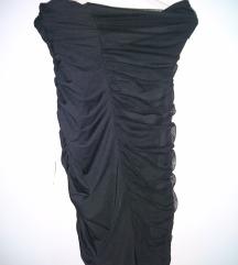 Crna top haljina Kikiriki
