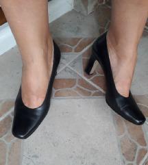 Kozne crne cipele salonke
