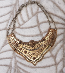 H&M masivna ogrlica staro zlato