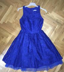 Kraljevsko plava haljina jednom nosena