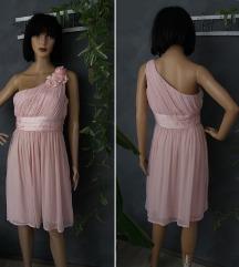 H&M roze svecana haljina S/M