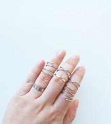 Set prstenja -  6 kom/silver *NOVO*
