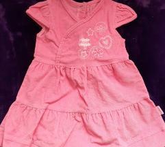 Nova/nenosena zimska roze somotska haljinica,80
