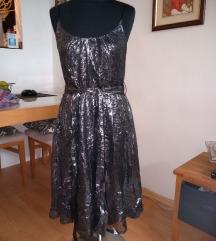Fenomenalna crno-srebrna haljina - novo