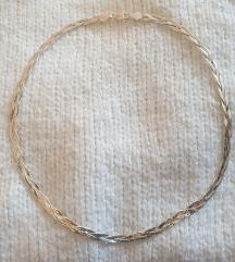 Srebrna ogrlica pletenica