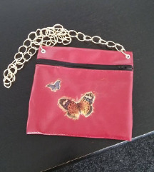 ✿✿Bordo handmade torbica sa leptirima✿✿ NOVO
