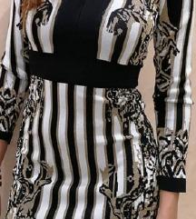 Belo zlatno crna haljina SUPER CENA