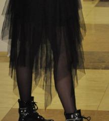 Crna dugačka suknja