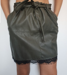 Maslinasta suknja od eko koze