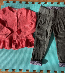Dzemper jaknica i somot pantalone za devojcice