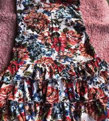 Mini top cvetna haljina