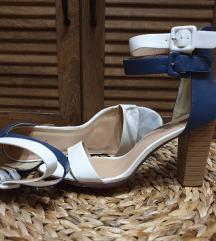 Plavo bele sandale