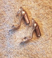 Metalic/Srebrne sandale *