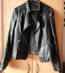 Crna kožna jakna M-L