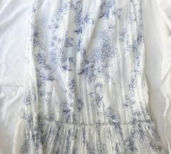 Belo plava suknja