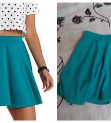 Tirkizna suknja-Snizena