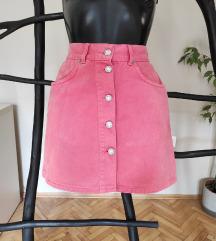 Benetton front button suknja