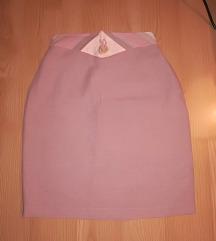 Lanena roze suknja