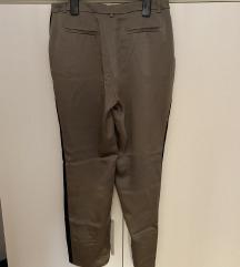 Zelene silene pantalone