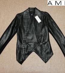 AMISU kožna jakna vel 36 NOVO sa etiketom