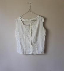 Vintage bela košulja sa vezom
