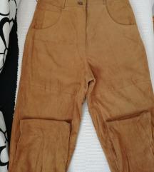 Kozne retro pantalone-visoki struk