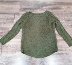 Maslinasto zeleni džemper