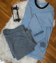 Plava frotir pidžama