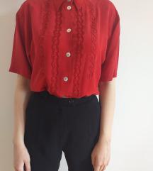 Vintage svilena košuljica sa vezom