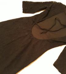 Divna haljina od čipke s golim leđima, S