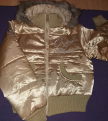 Zlatna saten zimska jakna