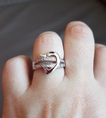 Swarovski prsten srce 925