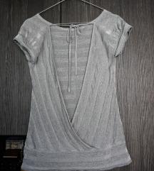 Srebrna majica - gola leđa